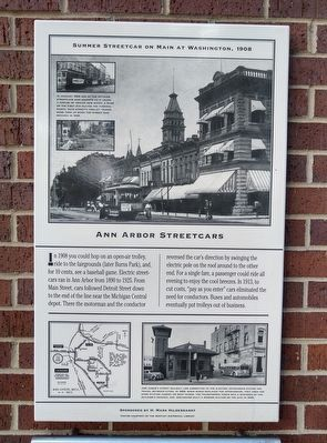 Ann Arbor Streetcars Marker image. Click for full size.