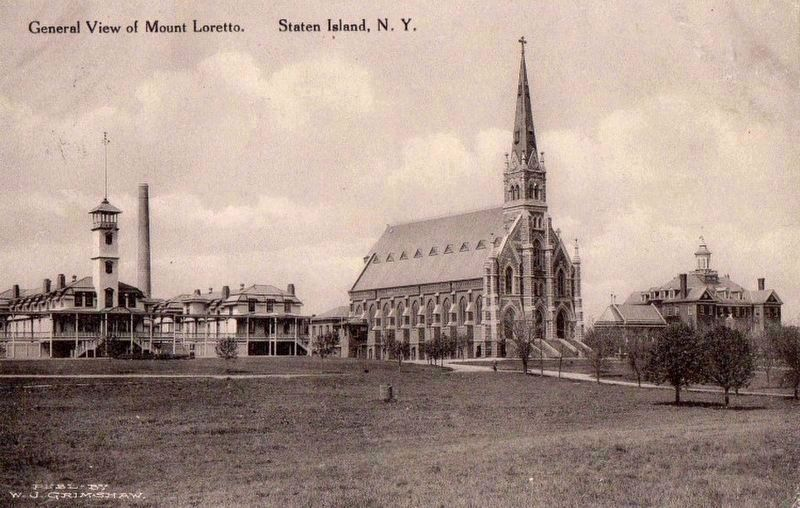 Mount Loretto, once upon a time. image. Click for full size.