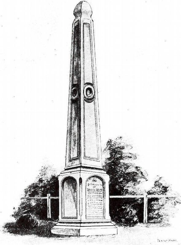 Monument at Sam Davis's Grave Erected by His Father image. Click for full size.