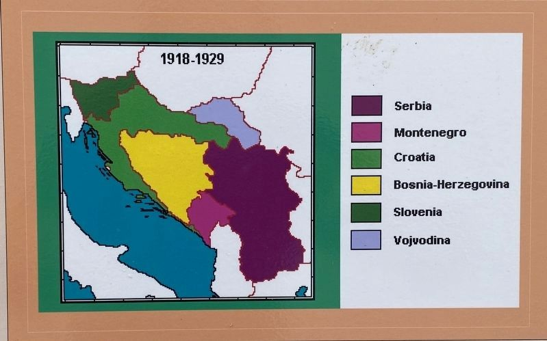 Marker detail: Province-level map of interwar Yugoslavia image. Click for full size.