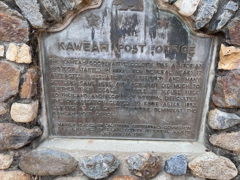Kaweah Post Office Marker image. Click for full size.