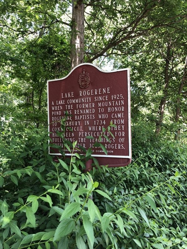 Lake Rogerene Marker image. Click for full size.