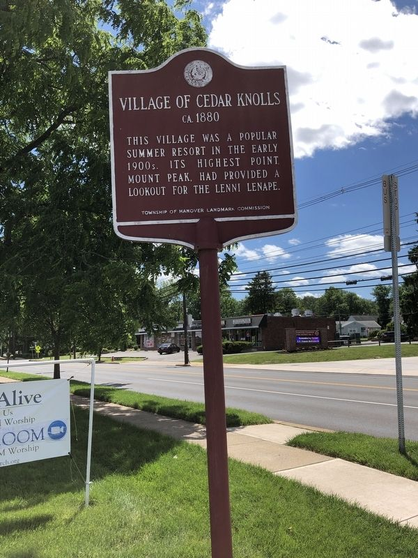 Village Of Cedar Knolls Marker image. Click for full size.