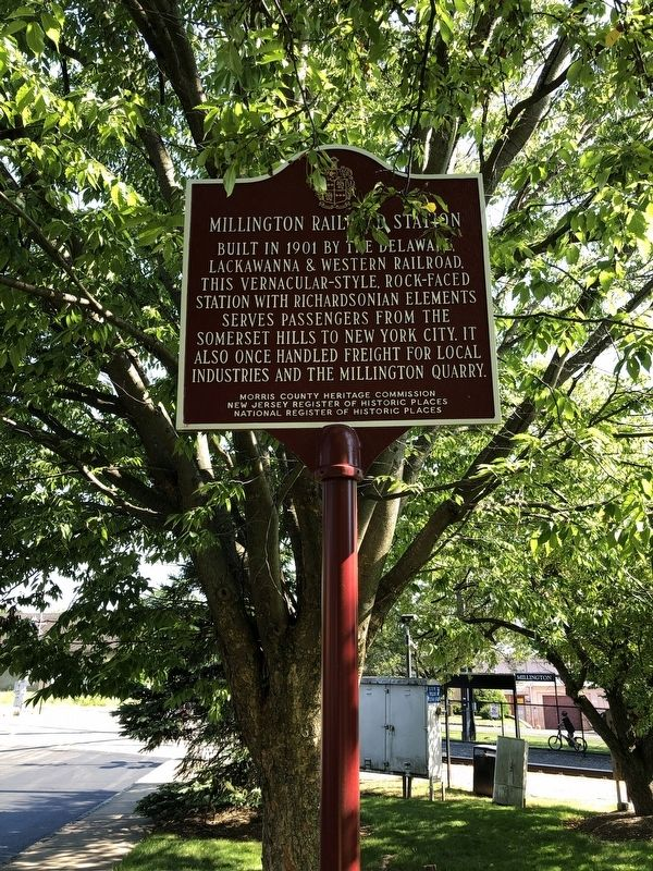Millington Railroad Station Marker image. Click for full size.