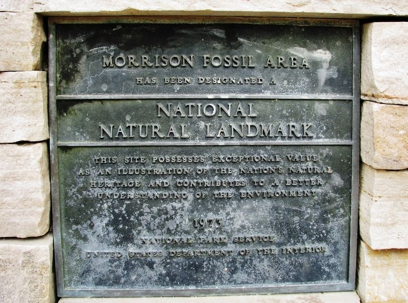 Morrison Fossil Area Marker image. Click for full size.