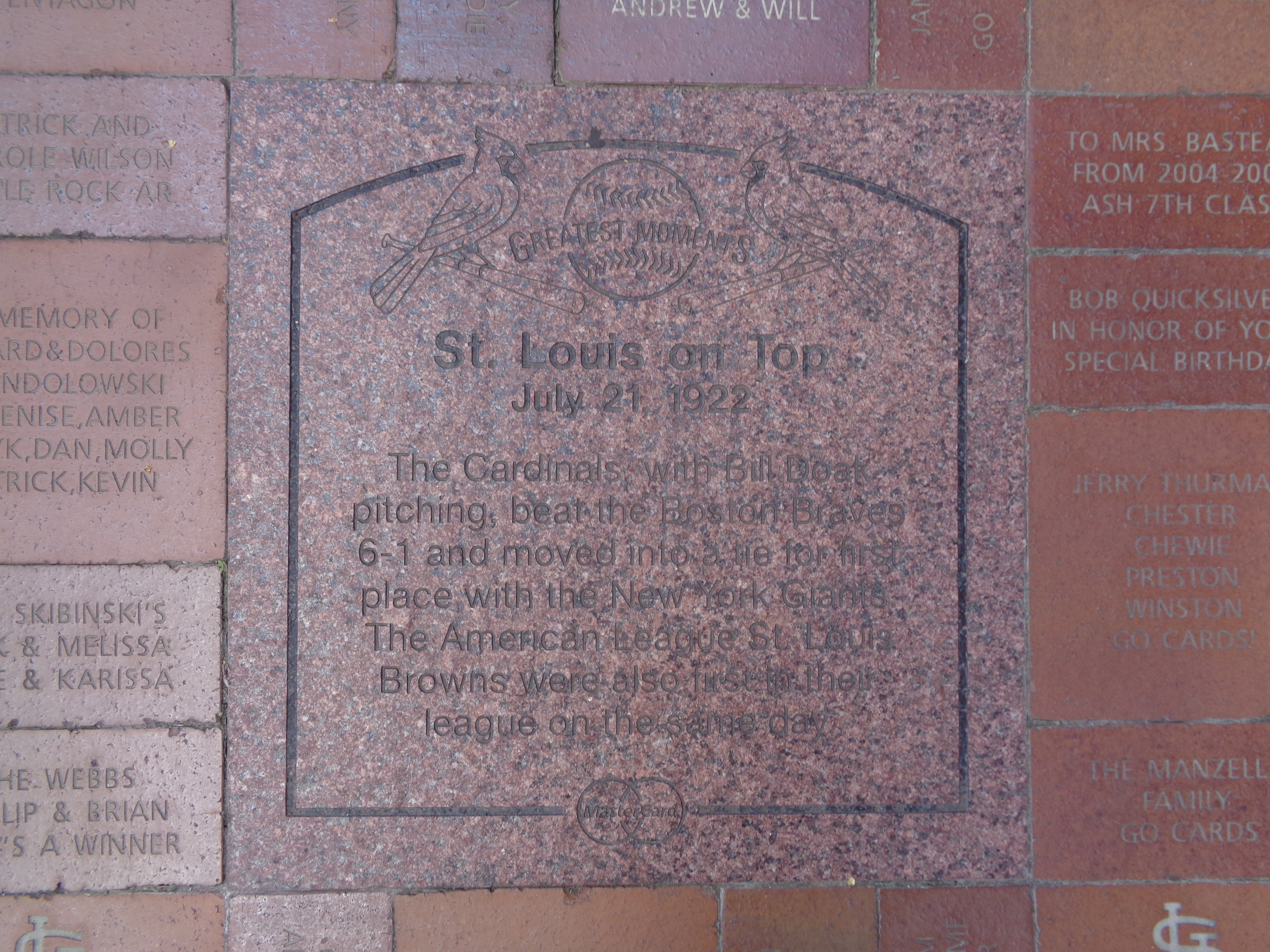 St. Louis on Top Marker