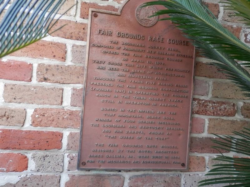 Fair Grounds Race Course Marker image. Click for full size.