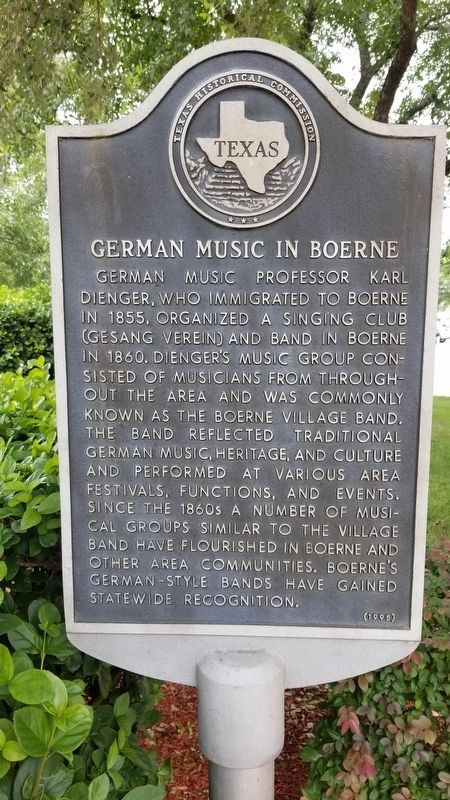 German music in Boerne Marker image. Click for full size.