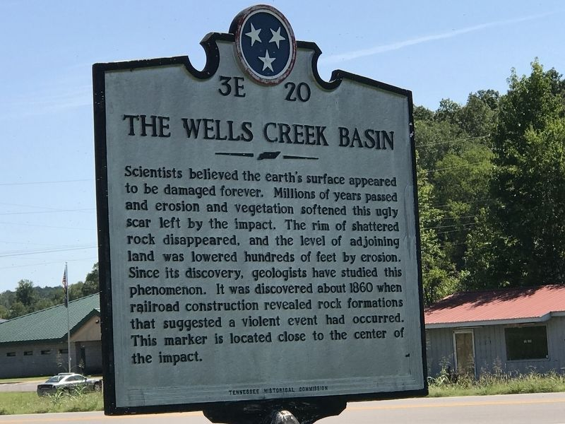The Wells Creek Basin Marker image. Click for full size.