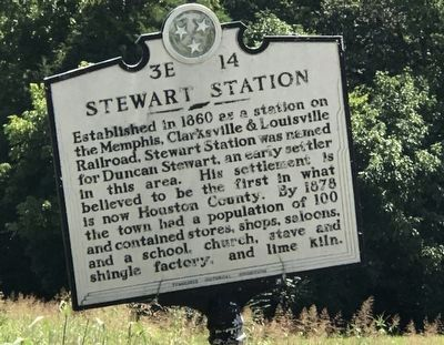 Stewart Station Marker image. Click for full size.