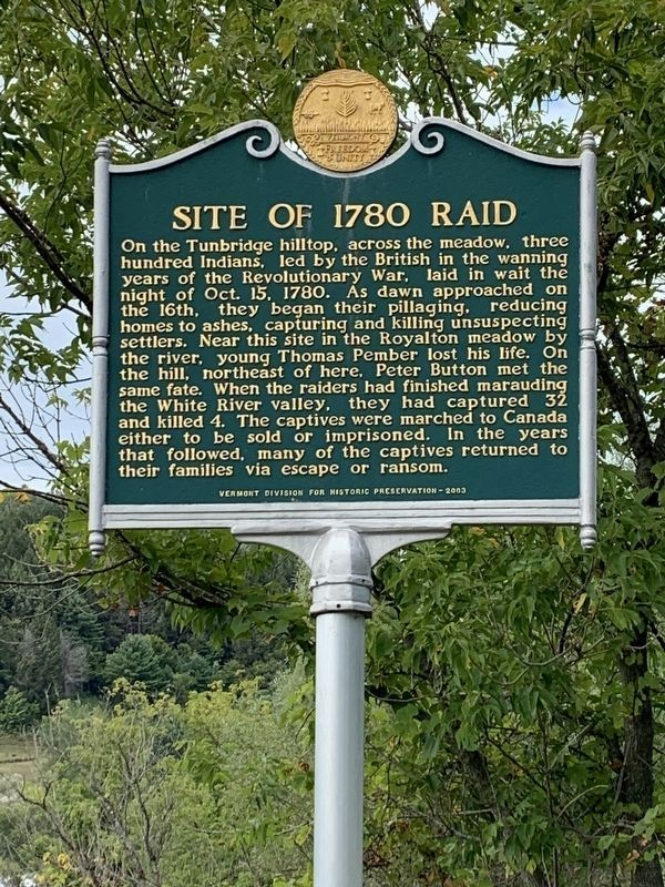 Site of 1780 Raid Marker image. Click for full size.