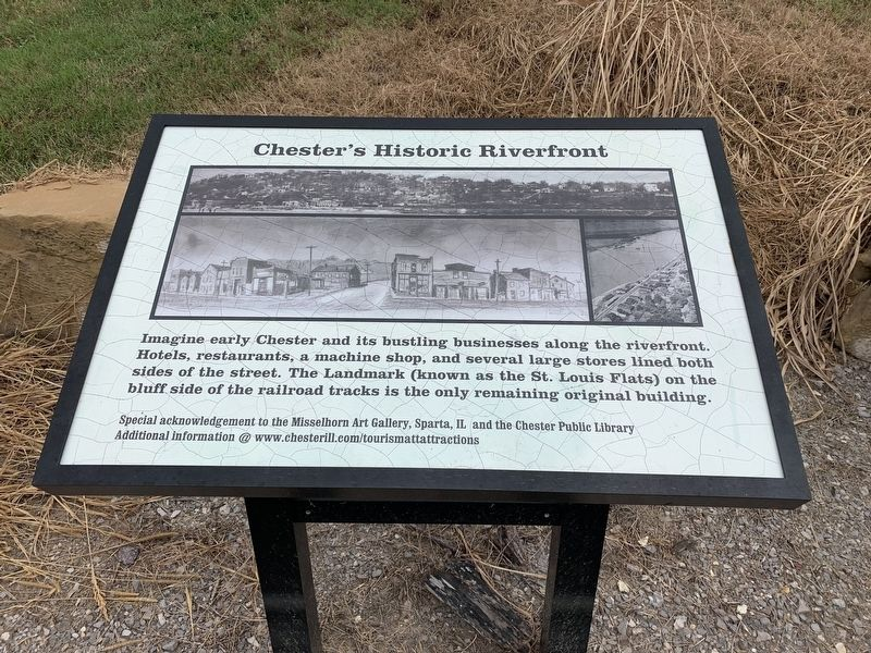 Port of Chester, Illinois Welcoming Mississippi River Travelers since 1829 Marker image. Click for full size.