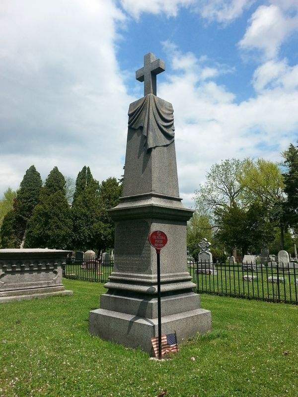 Grave of Col. Peter A. Porter, Oakwood Cemetery, Niagara Falls, NY image. Click for full size.