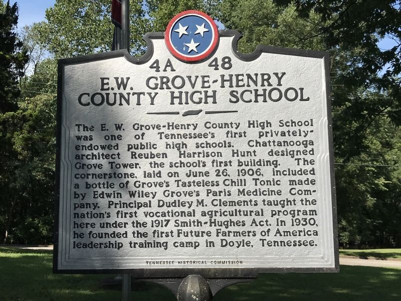 E.W. Grove-Henry County High School Marker image. Click for full size.