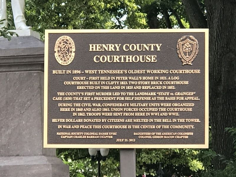 Henry County Courthouse Marker image. Click for full size.