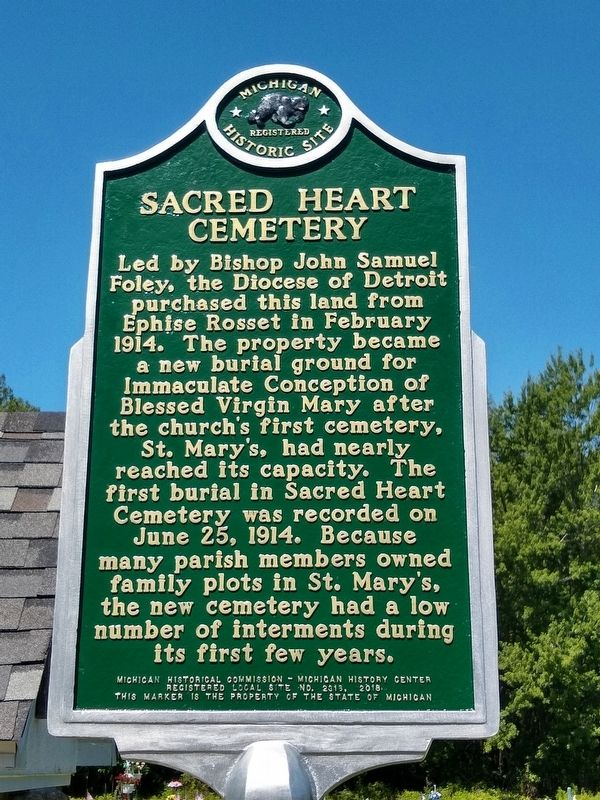 Sacred Heart Cemetery Marker image. Click for full size.