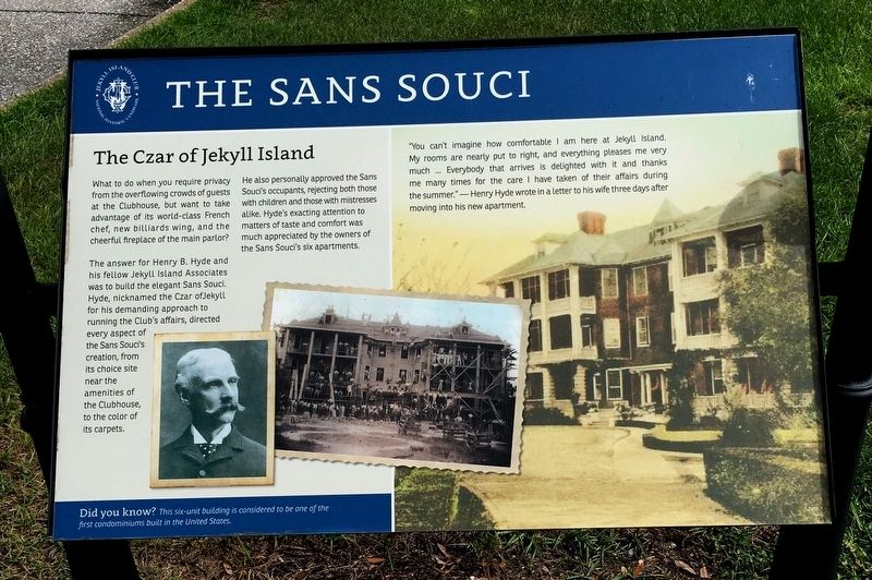 The Sans Souci Marker image. Click for full size.