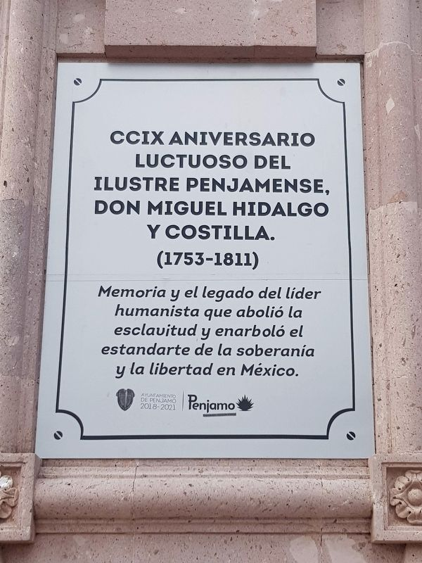 209th Anniversary of the Death of Hidalgo Marker image. Click for full size.