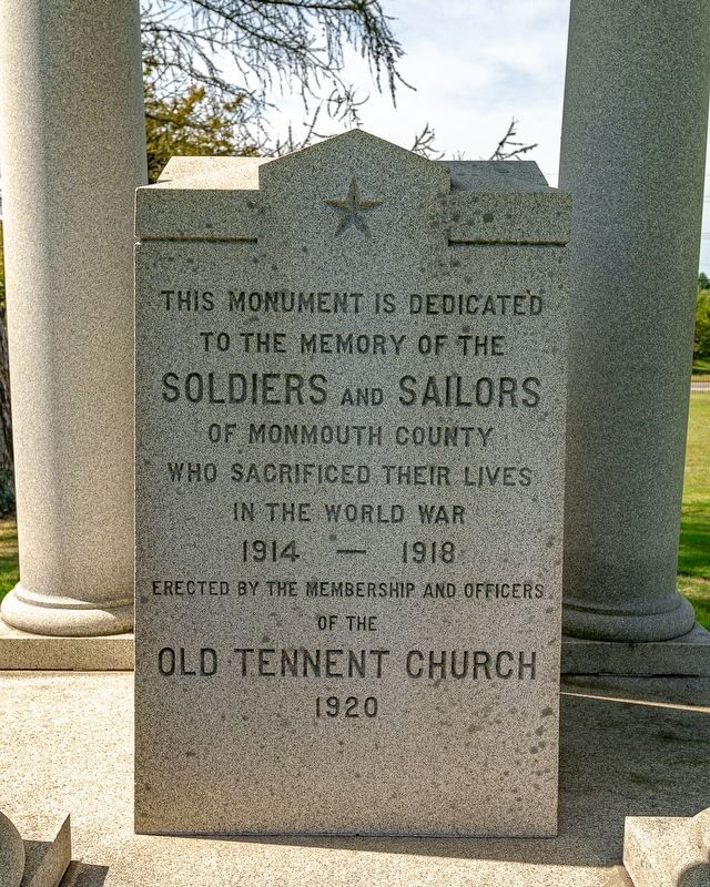 Old Tennent Soldiers and Sailors World War Monument image. Click for full size.