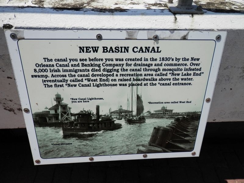 New Basin Canal Marker image. Click for full size.