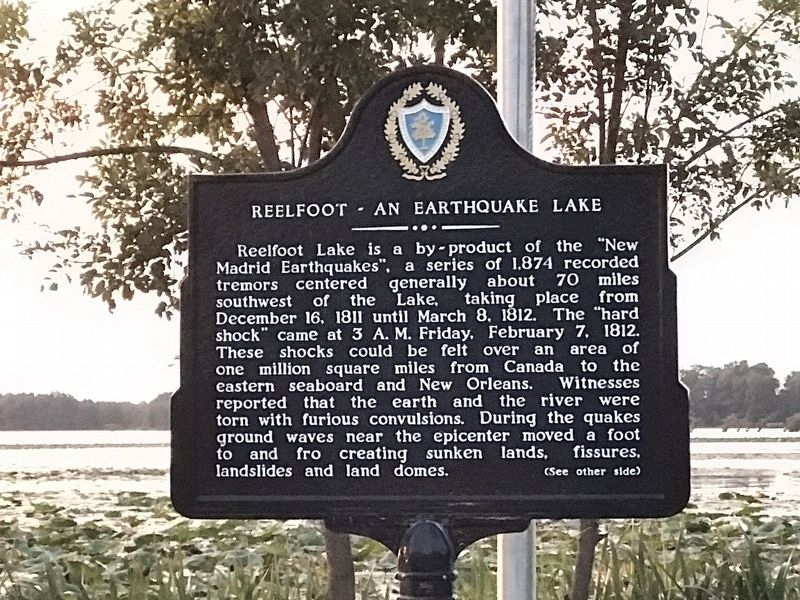 Reelfoot — An Earthquake Lake Marker image. Click for full size.