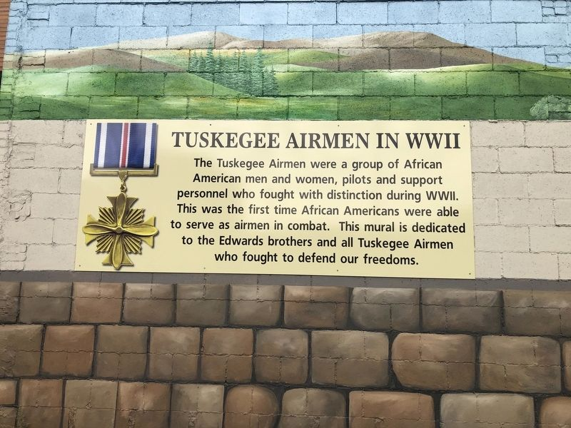 Tuskegee Airmen in WWII Marker image. Click for full size.