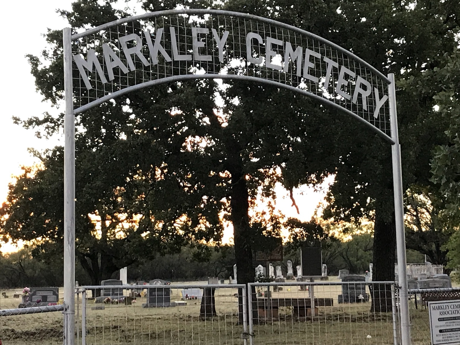 Markley Cemetery and Marker