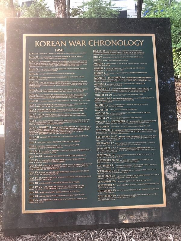 Korean War Chronology image. Click for full size.