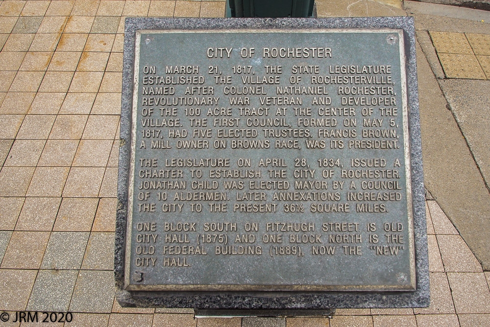 City of Rochester Marker