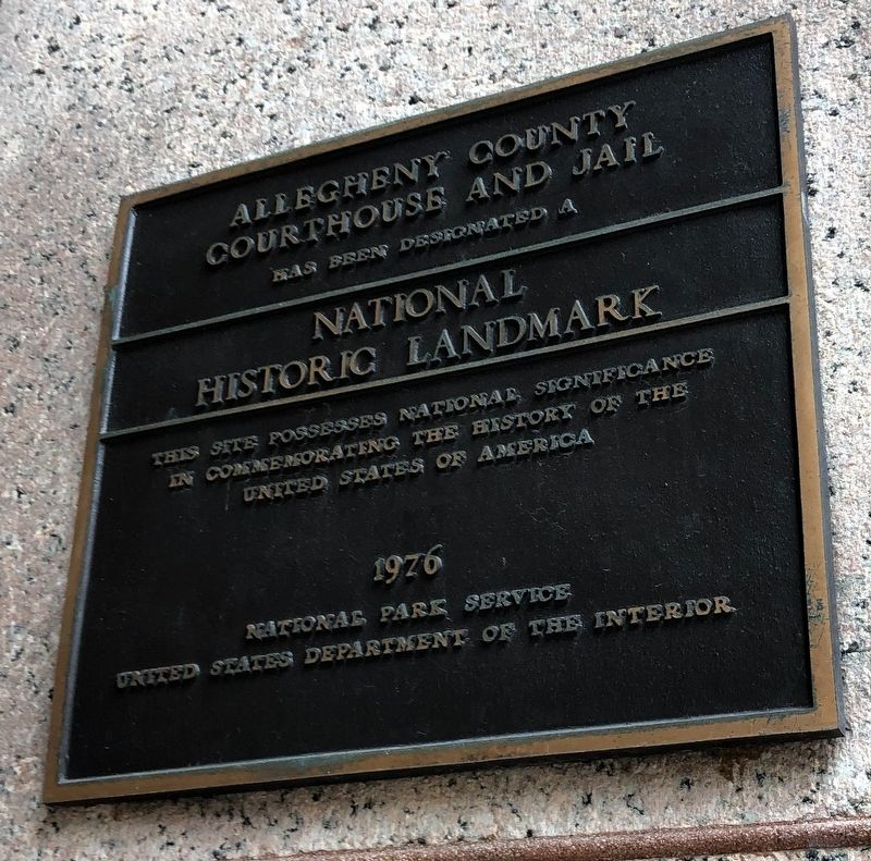 Allegheny County Courthouse and Jail Marker image. Click for full size.