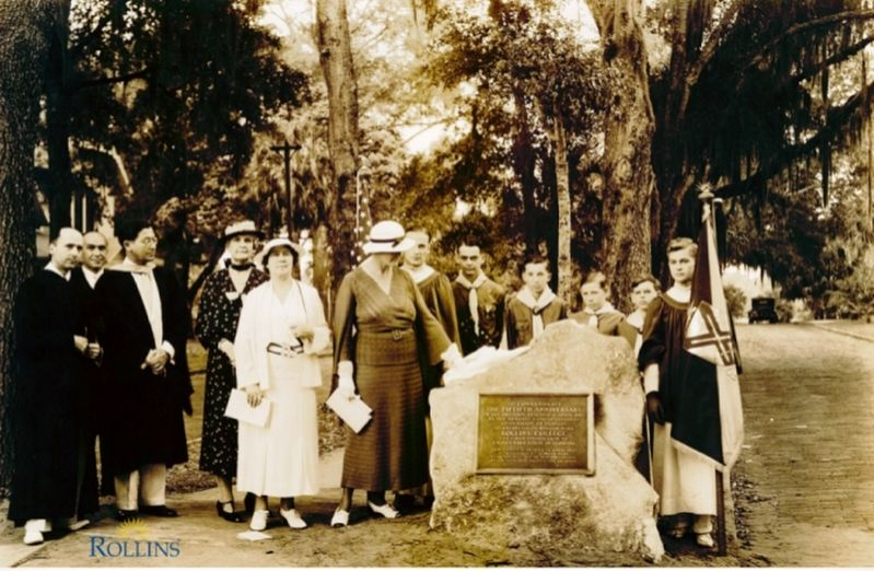 Tablet unveiling Ceremony – April 17, 1935 image. Click for full size.