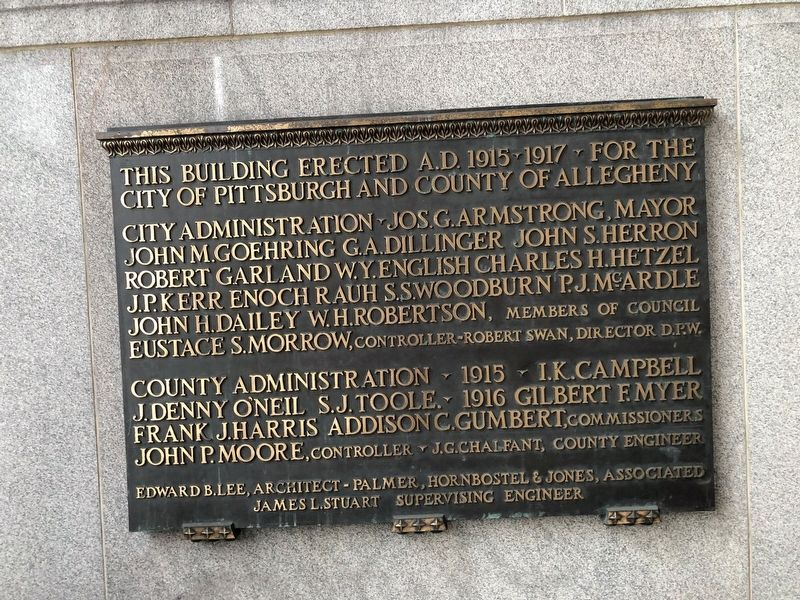 City-County Building Marker image. Click for full size.