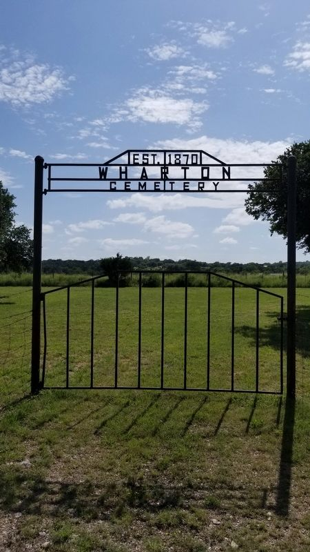 Gate to Wharton Cemetery image. Click for full size.