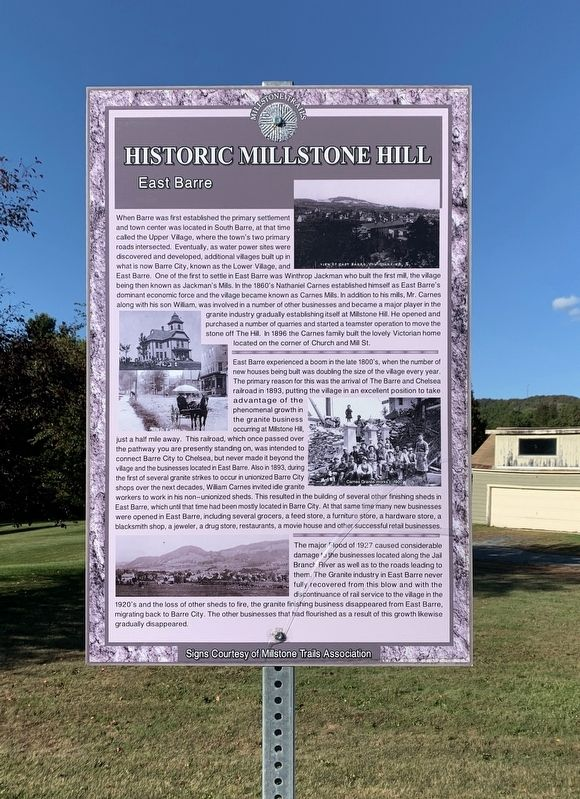 Historic Millstone Hill Marker image. Click for full size.