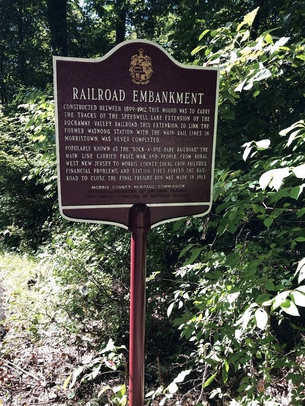Railroad Embankment Marker image. Click for full size.