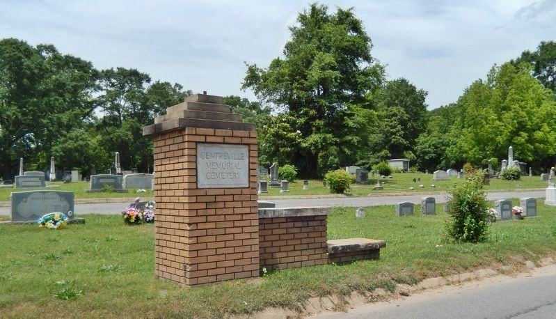 Centreville Cemetery Entrance image. Click for full size.
