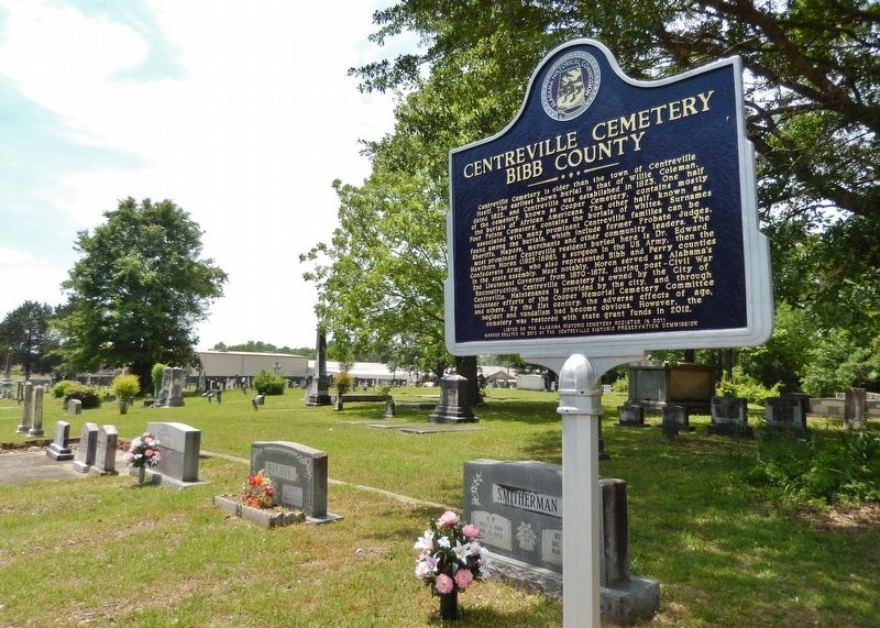 Centreville Cemetery Marker image, Touch for more information