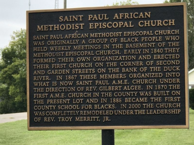 Saint Paul African Methodist Episcopal Church Marker image. Click for full size.