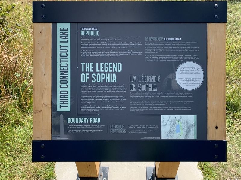 Third Connecticut Lake Marker image. Click for full size.