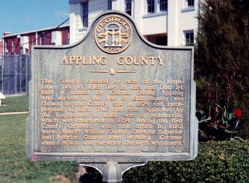 Appling County Marker image. Click for full size.