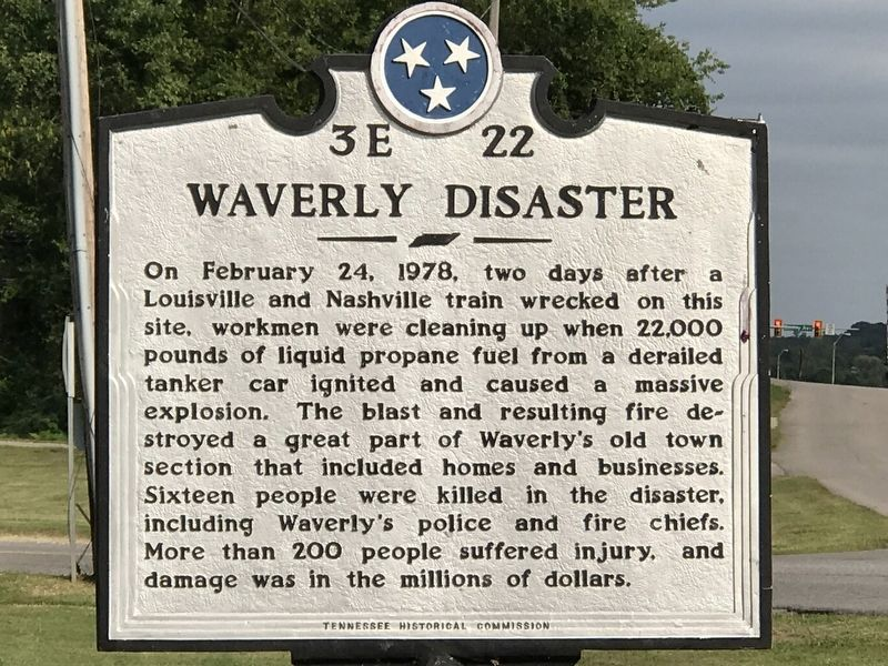 Waverly Disaster Marker image. Click for full size.