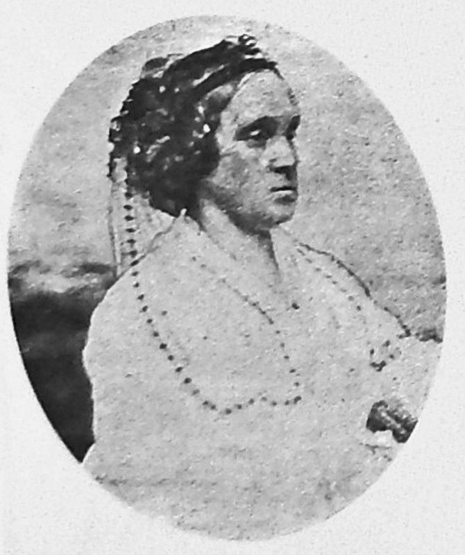 Marker detail: Lucy Wilhelmina Norvell Otey (1801-1866) image. Click for full size.