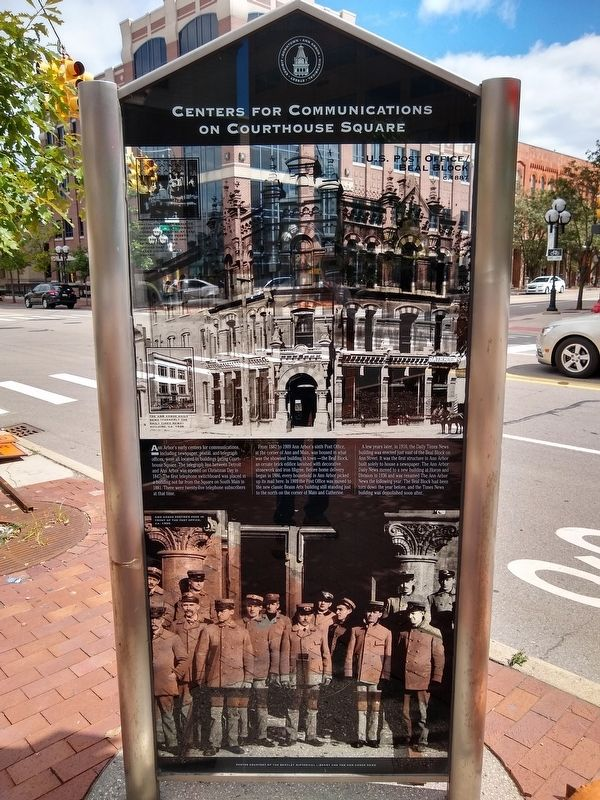 Centers for Communications on Courthouse Square Marker image. Click for full size.