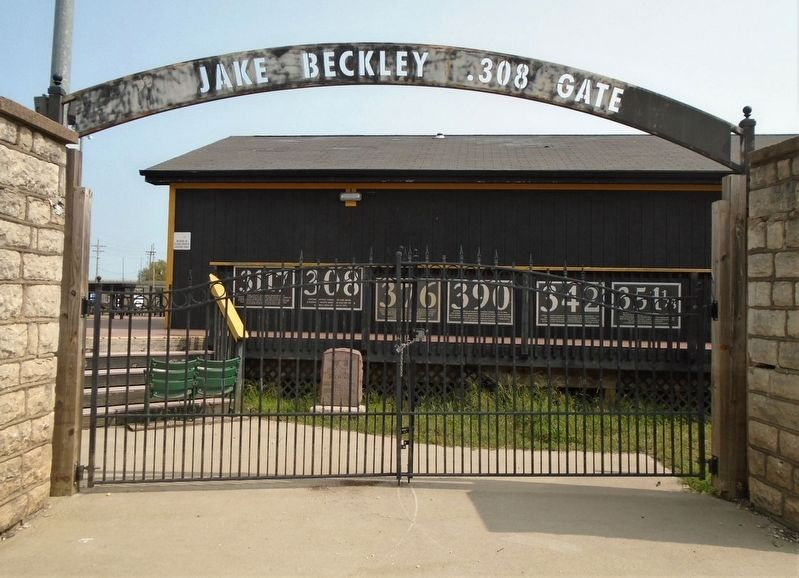 342 Marker Inside the Jake Beckley .308 Gate image. Click for full size.