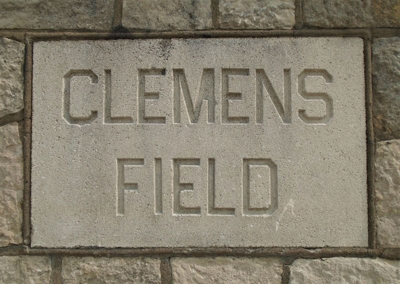 Clemens Field Name Stone image. Click for full size.