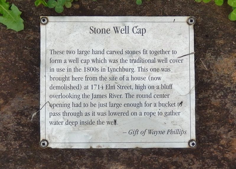 Stone Well Cap Marker image. Click for full size.