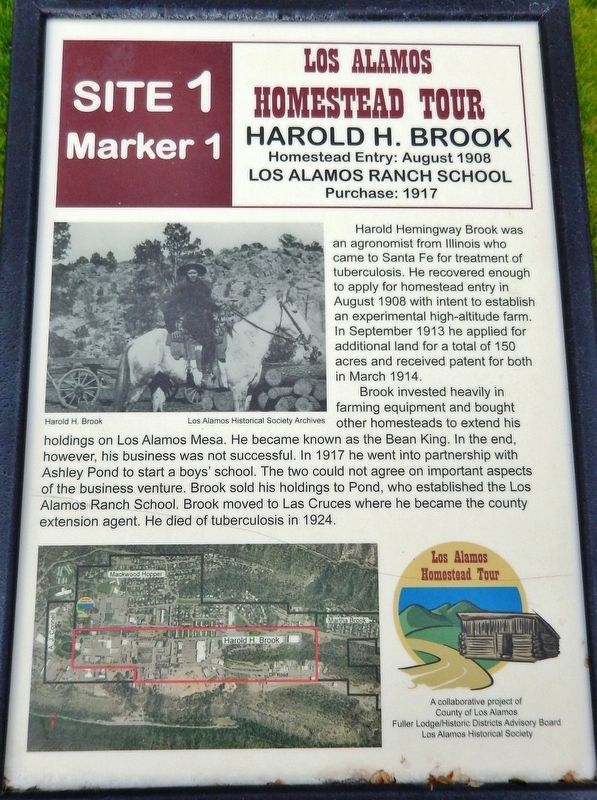 Harold H. Brook Marker image. Click for full size.