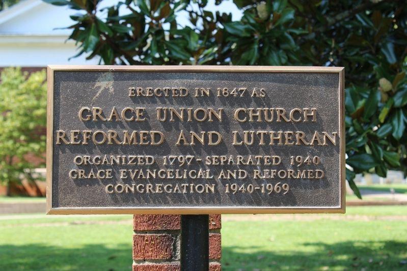 Grace Union Church Reformed and Lutheran Marker image. Click for full size.
