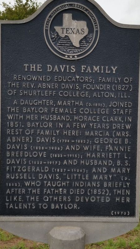 The Davis Family Marker image. Click for full size.