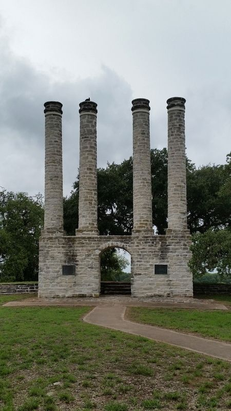 Ruins of the Baylor Female College on Academy Hill image. Click for full size.
